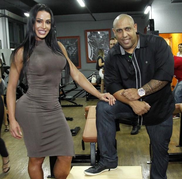 Gracyanne Barbosa e Xande Negão (Foto: Marcos Ferreira/Brazil News)