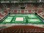 Em primeiro contato, cor verde da arena divide ginastas no evento-teste