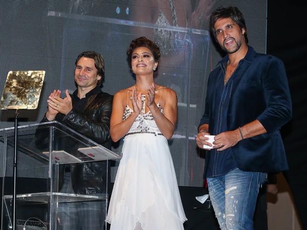 Murilo Rosa, Juliana Paes e Leo em festa em Uberlândia, Minas Gerais (Foto: Manuela Scarpa/ Brazil News)