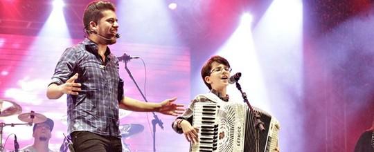 Chuva e dueto de Luan e Vyni marcam noite no 'Pátio' (Divulgação/Assessoria da Prefeitura de Caruaru)