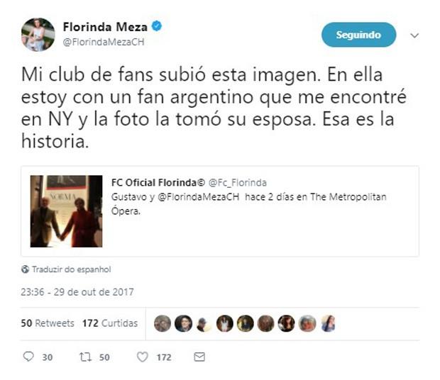 Florinda Meza teve foto com fã divulgada e gerou rumores de affair (Foto: Reprodução/Twitter)