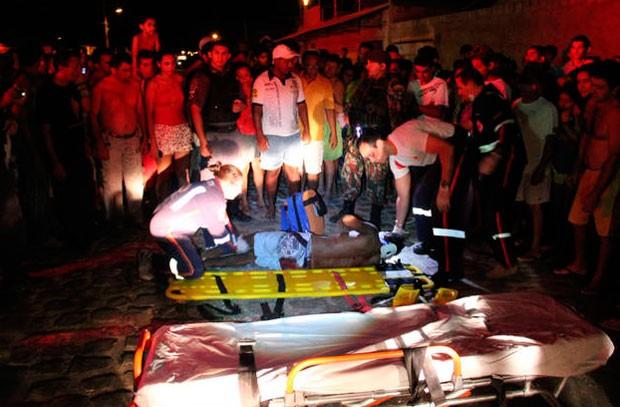 Um dos atentados aconteceu na avenida Santa Luzia, no bairro Santa Delmira (Foto: Marcelino Neto)