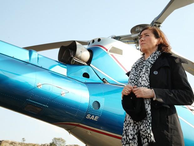 Maria Marta chega ao Monte Roraima (Foto: Carol Caminha/TV Globo)
