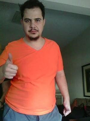 Efeito sanfona: Thiago quando voltou a pesar 120 kg (Foto: Arquivo pessoal)