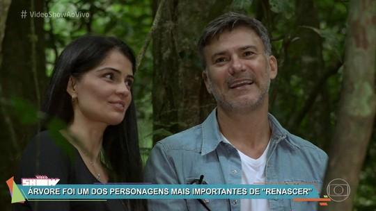 Leonardo Vieira e Patrícia França se emocionam em reencontro após quase 25 anos de 'Renascer'