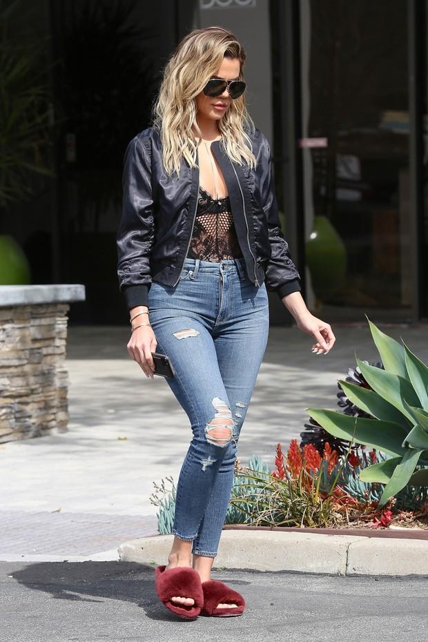 Khloe Kardashian em Los Angeles, nos Estados Unidos (Foto: AKM-GSI/ Agência)