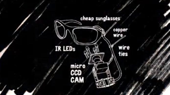 Estrutura consiste em um óculos comum, (Foto: Reprodução/YouTube)