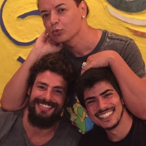 David Brazil, Cauã e o irmão (Foto: Reprodução/Instagram)