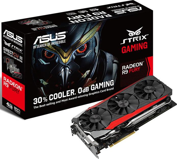 Placas da série Fury da AMD contam com tipo de memória rápido e eficiente (Foto: Divulgação/Asus)