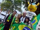 Teresópolis, RJ, ganha escultura do Fuleco, mascote da Copa do Mundo