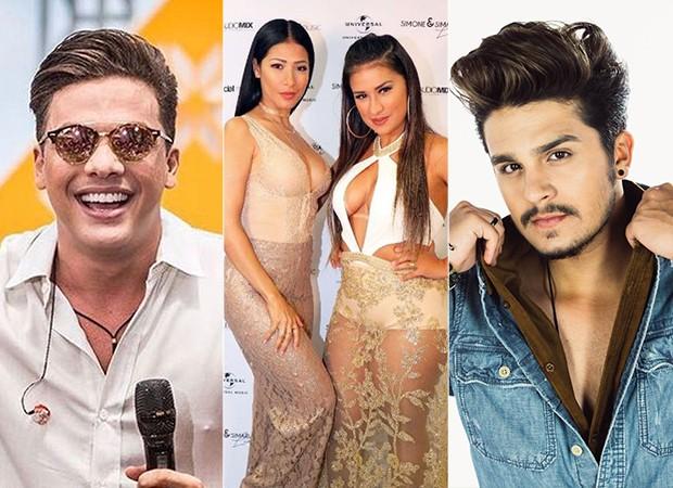 Wesley Safadão, Simone e Simaria e Luan Santana (Foto: Divulgação)