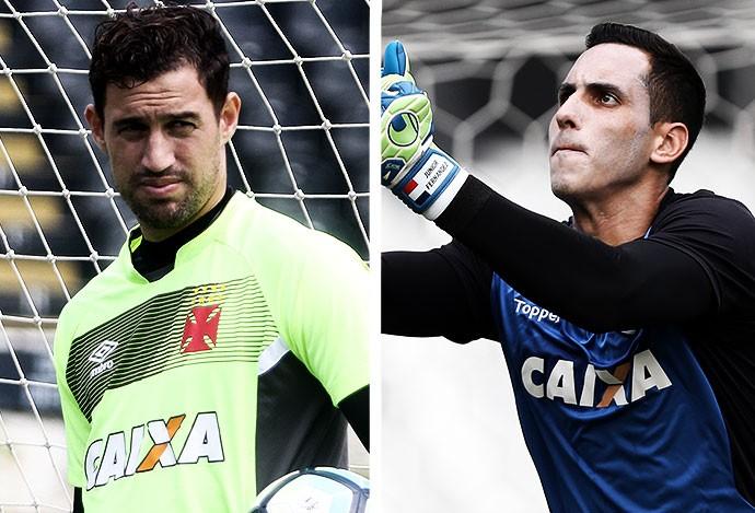 MONTAGEM - Martin Silva Vasco e Gatito Fernandez Botafogo (Foto: Editoria de Arte)