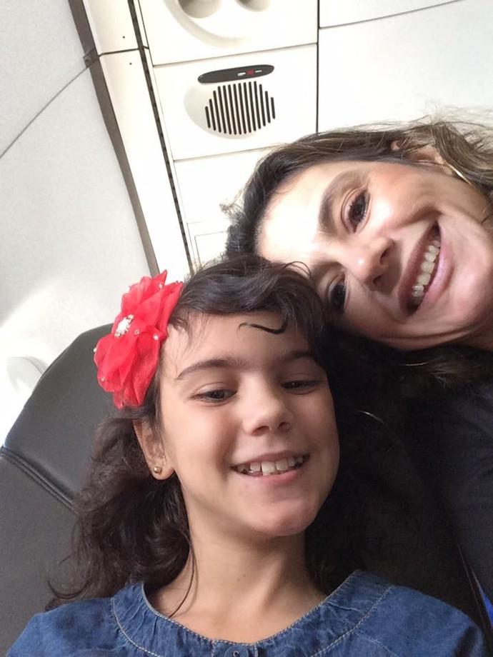Maria Vittória e a mãe Karla Tognere (Foto: arquivo pessoal)