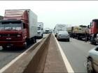 Rodovia em Salto Grande é liberada após manifestação de caminhoneiros