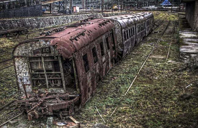 Trem abandonado (Foto: Arquivo Google)