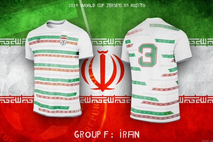Blog da Copa - design camisa do Irã