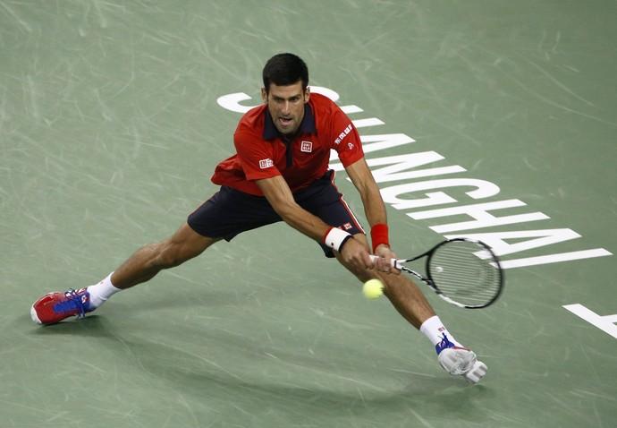 Novak Djokoivc no Masters 1.000 de Xangai (Foto: EFE)