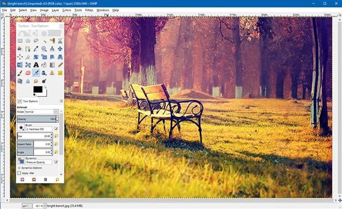 GIMP oferece um editor de imagem gratuito para PC e notebook