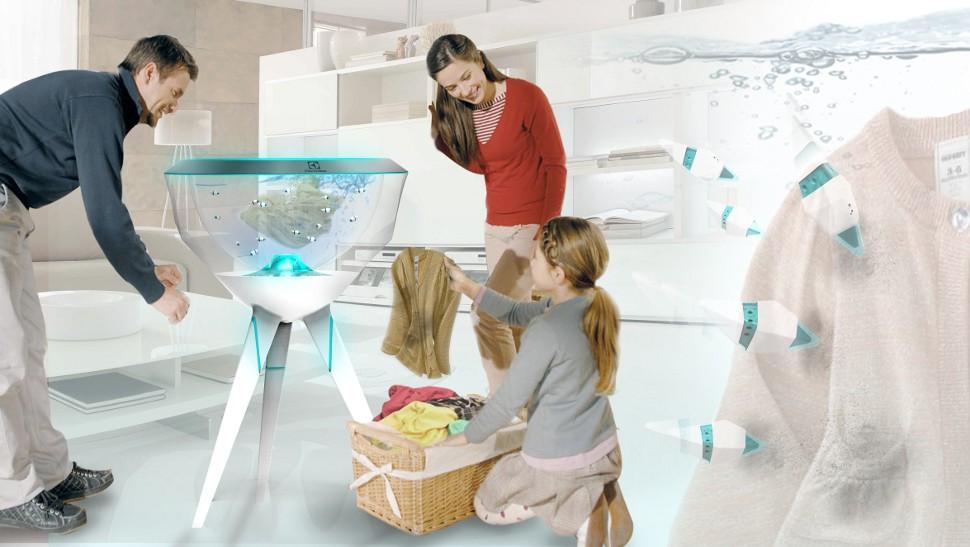 No futuro, suas roupas serão lavadas por cardumes de peixes robóticos
