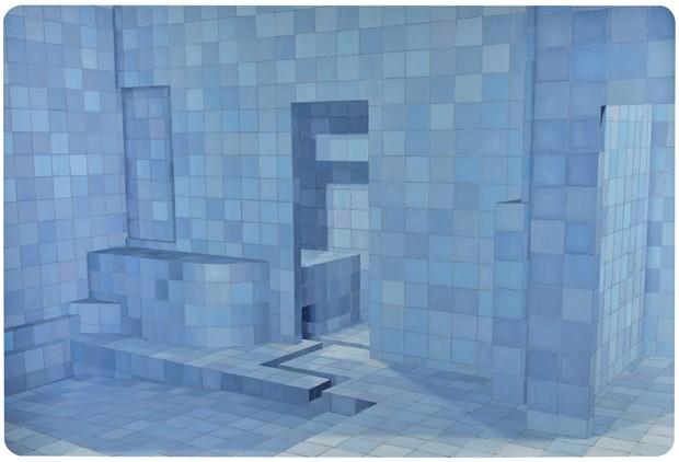 Adriana Varejão BLUE SAUNA, 2003 Edition Unique Oil on canvas 195 x 290 cm (76.77 x 114.17 in) Estimate £400,000-600,000 (Foto: Divulgação)