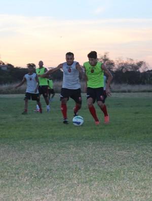 Flamengo-PI prega humildade no elenco para Copa Piauí (Foto: Emanuele Madeira/GLOBOESPORTE.COM)