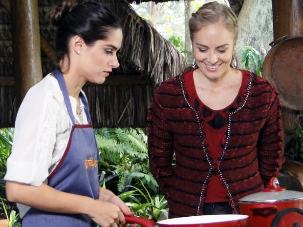 Fernanda Machado ensina a preparar prato especial no 'Estrelas' (Foto: Estrelas/TV Globo)
