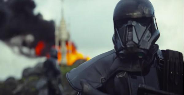 Um misterioso Stormtrooper de armadura preta no trailer de 'Star Wars: Rogue One' (Foto: Divulgação)