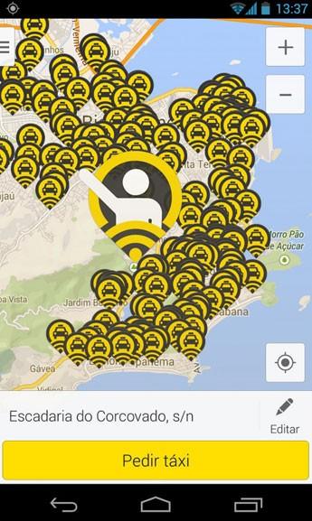 Aplicativo para pedir táxis 99Taxis.