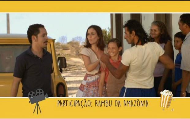 """Cena de """"Cine Holliúdy"""", com a participação de Aldenir Coti, o Rambú da Amazônia (Foto: Rede Amazônica)"""