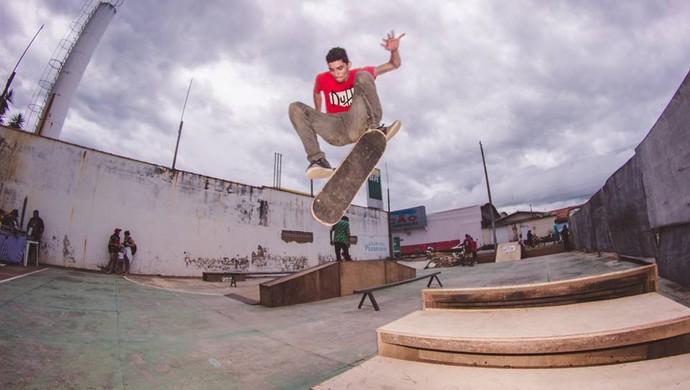 Leo Bezerra, skatista de Ji-Paraná (Foto: Alysson Vicente/ Arquivo pessoal)