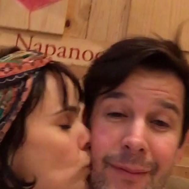 Murilo Benício comemora aniversário com Débora Falabella (Foto: Instagram/ Reprodução)