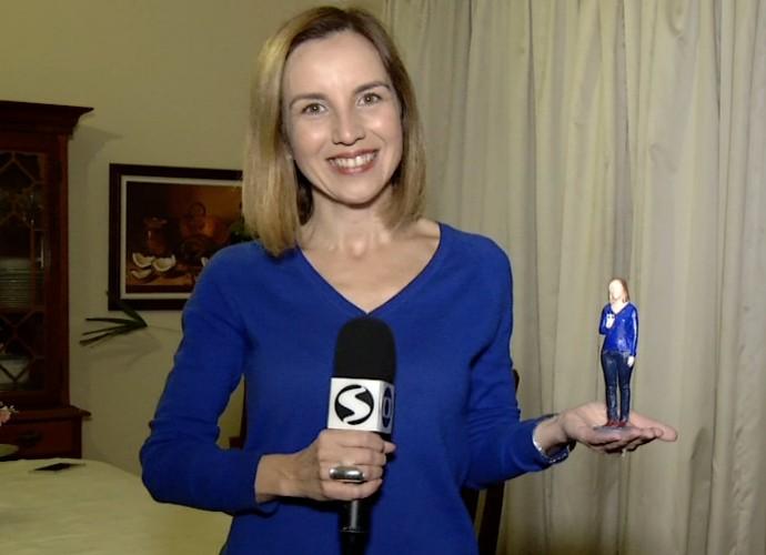 Teresa Freitas ganhou uma versão em miniatura (Foto: Rio Sul Revista)
