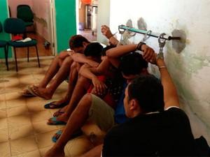 Segundo o delegado, presença dos presos atrapalha o trabalho dos policiais na DP de Nova Cruz (RN) (Foto: Normando Feitosa/Delegado de Polícia em Nova Cruz (RN))