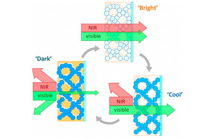 Material desenvolvido pela Universidade do Texas funciona como filtro para luz e calor (Foto: Divulgação/ACS Publications)