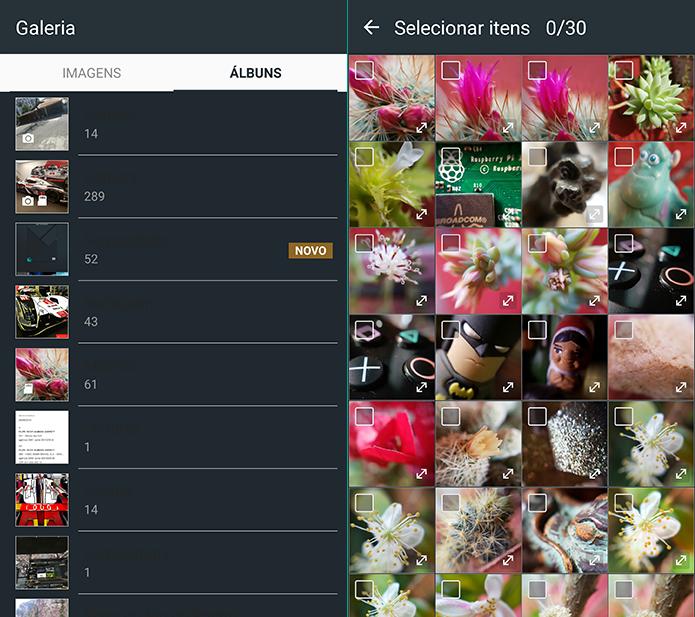 Escolha o álbum que contenha fotos que deseja usar na tela de bloqueio (Foto: Reprodução/Filipe Garrett)