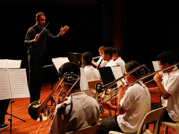 Banda Jovem Sagrado Coração se apresenta nesta quarta-feira no Theatro Vasques, em Mogi das Cruzes (Foto: Danilo Sans)