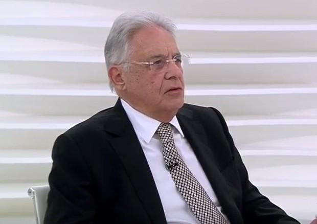 O ex-presidente Fernando Henrique Cardoso durante entrevista ao programa 'Roda Viva', da TV Cultura (Foto: Reprodução)