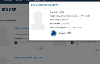 Denilson tem nome publicado no  BID e já pode estrear pelo Cruzeiro