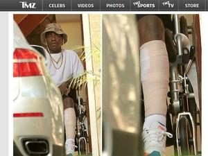 Tracy Morgan aparece em cadeira de rodas, em foto do site TMZ (Foto: Reprodução/TMZ)