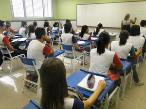 Sala de aula escola espírito santo (Foto: Divulgação/ Sedu-ES)