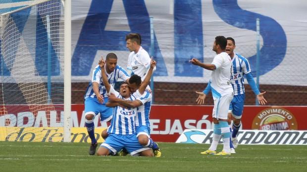 Gol Avaí Márcio Diogo Ressacada Paysandu Série B (Foto: Jamira Furlani/Avaí FC)