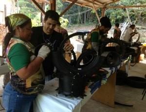 Aprendizes pretendem repassar as técnicas (Foto: Ivanete Damasceno/G1)