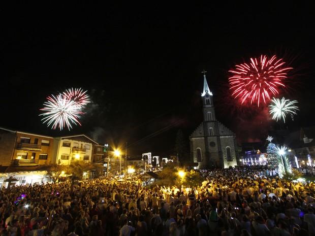 Natal Luz; Gramado; show de fogos (Foto: Cleiton Thiele/Divulgação)