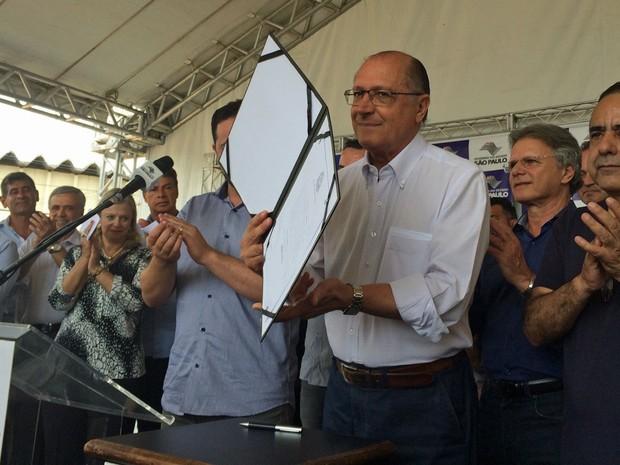 O governador de São Paulo Geraldo Alckmin (Foto: Tatiana Santiago/G1)