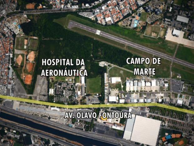 Aeronáutica quer doar terreno em São Paulo para a transferência do Museu da TAM (Foto: Reprodução EPTV)