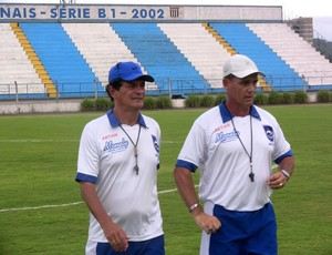Técnico Paulo Roberto comanda treino do Rio Claro (Foto: Assessoria RCFC)