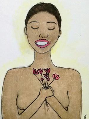 Ilustração de livro feito para Cristiane Damacena, vítima de racismo nas redes sociais (Foto: Reprodução/G1)