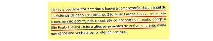 (editado) Parecer Comitê Ética São Paulo Página 19 (Foto: Arte: GloboEsporte.com)