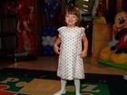Rafa Justus faz pose na festa dos filhos de Emerson Fittipaldi