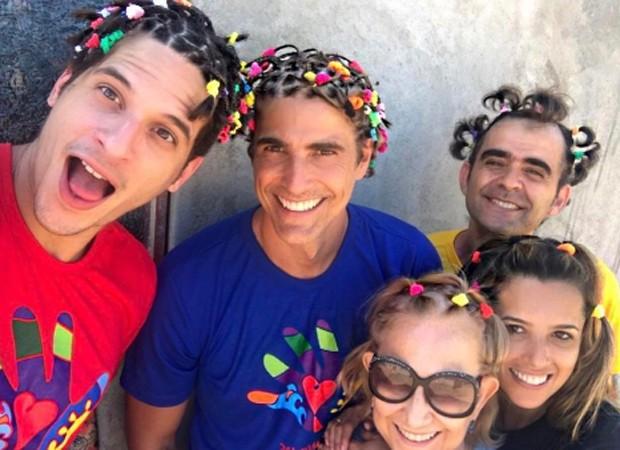 Diego Fragoso, Reynaldo Gianecchini, Heloísa Helena, Pedro Onofre e Tati Zeitunlian (Foto: Reprodução/Instagram)